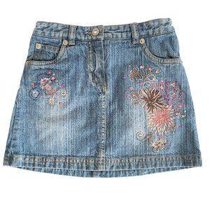 🍒3/$20🍒 NEXT Embroidered Adj Waist Denim Skirt 4
